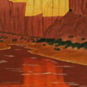 Canyon Reflection Art Print