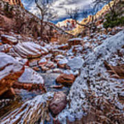 Canyon Stream Winterized Art Print