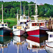 Cape Cod Harbor  Art Print