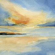 Cape Cod Sunset Seascape Painting Art Print