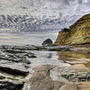 Cape Kiwanda And Haystack Rock Art Print