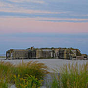 Cape May Wold War Two Concrete Bunker Art Print