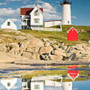 Cape Neddick Light  Reflections Art Print