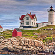 Cape Neddick Nubble Lighthouse II Art Print
