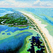 Cape San Blas Florida Art Print