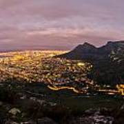 Cape Town Nights Art Print by Aaron Bedell