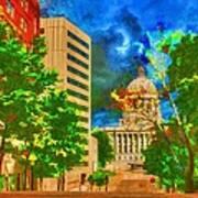 Capital - Jefferson City Missouri - Painting Art Print