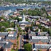 Capital Of Maryland In Annapolis Art Print