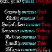 Capital Virtues Overcome Deadly Sins Art Print