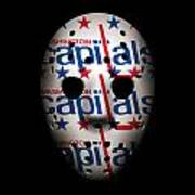 Capitals Goalie Mask Art Print