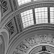 Capitol Architecture - Bw Art Print