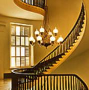 2 - Capitol Staircase - Montgomery Alabama Art Print