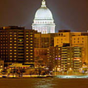 Capitol - Madison - Wisconsin Art Print