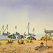 Capitola - California Sketchbook Project  Art Print by Irina Sztukowski
