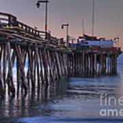 Capitola Wharf At Dusk Art Print
