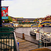 Cap'n Jacks Marina Harbor Walt Disney World Art Print
