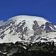 Capped Rainier Up Close Art Print