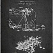 Capps Machine Gun Patent Drawing From 1899 - Dark Art Print