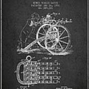 Capps Machine Gun Patent Drawing From 1902 - Dark Art Print