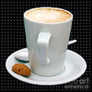 Cappuccino With An Amaretti Biscuit Print by Terri Waters