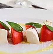 Caprese Mozzarella And Tomatoes Art Print