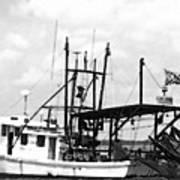 Capt. Jamie - Shrimp Boat - Bw 02 Art Print
