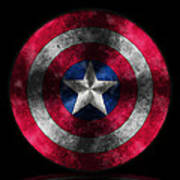 Captain America Shield Art Print