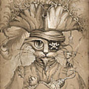 Captain Claw Art Print
