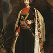 Captain Colin Mackenzie In His Afghan Art Print by James Sant