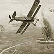 Captain Hawkers Aerial Battle Art Print