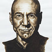 captain Jean Luc Picard Star Trek TNG Art Print