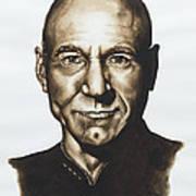 captain Jean Luc Picard Star Trek TNG Art Print by Giulia Riva