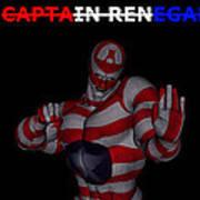 Captain Renegade Super Hero Combating Crime Art Print