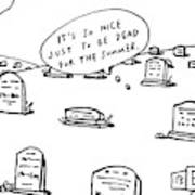 Captionless. In The Middle Of A Cemetery Art Print