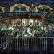 Captive On The Carousel Of Time Art Print