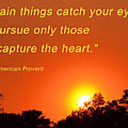 Capture The Heart Art Print