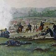 Capturing The Flag-picketts Charge Art Print