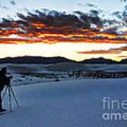 Capturing The Sunset Art Print