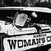 Car And Driver In Helldorado Days Parade In Tombstone Arizona 1967 Art Print