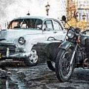 Car And Sidecar Art Print