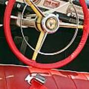 Car Interior Red Seats And Steering Wheel Art Print