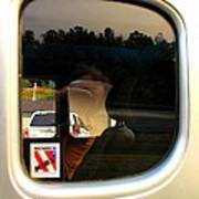 Car Window Reflection Art Print