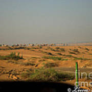 Caravan Of Camel In The Desert. Art Print