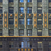 Carbide And Carbon Building Art Print by Adam Romanowicz