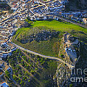Carcabuey Castle From The Air Art Print