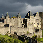 Carcassonne Stormy Skies Print by Robert Lacy