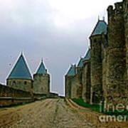 Carcassonne Walls Art Print by France  Art