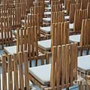 Cardboard Cathedral Chairs Art Print
