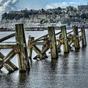 Cardiff Bay Old Jetty Supports Art Print
