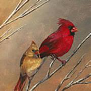 Cardinal Mates Art Print